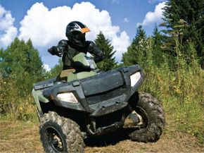riding an atv