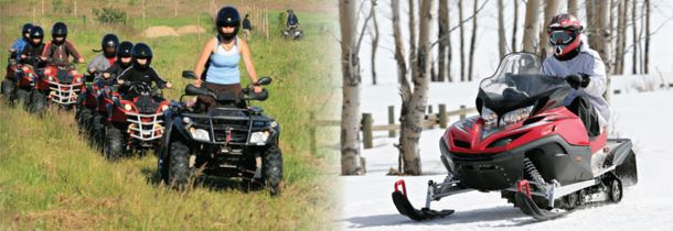 atvs and snowmobiles